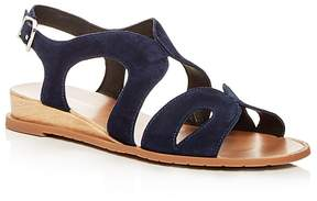 Kenneth Cole Women's Jules Suede Slingback Demi Wedge Sandals