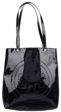 Tory Burch Patent Leather Bombe T-Tote