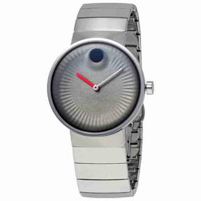 Movado Edge Grey Dial Stainless Steel Men's Watch 3680008