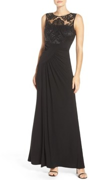 Eliza J Women's Draped Sleeveless Gown