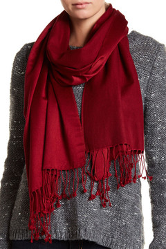 Saachi Red Cashmere & Silk Scarf