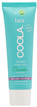 Coola Mineral Face SPF 30 Cucumber Matte Finish.