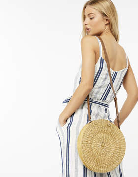 Monsoon ROSA ROUND STRAW CROSS BODY