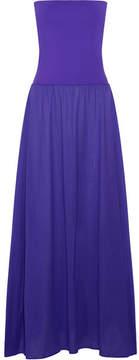 Eres Zephyr Ankara Cotton-jersey Maxi Dress - Purple