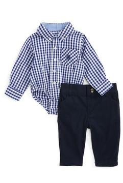 Andy & Evan Infant Boy's Shirtzie Gingham Bodysuit & Pants Set