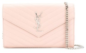 Saint Laurent Women's Pink Leather Clutch. - PINK - STYLE