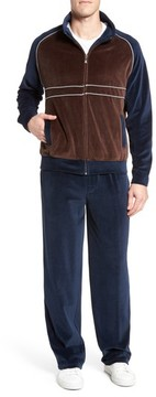 Majestic International Men's Strathcona Velour Warm-Up Suit