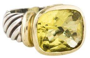 David Yurman Two-Tone Peridot Noblesse Ring
