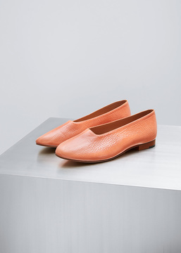 Martiniano Terracotta Patent Glove Flat