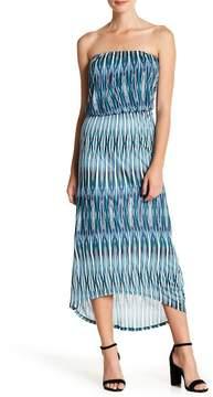 Velvet by Graham & Spencer Ikat Printed Strapless Dress