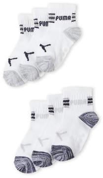 Puma Toddler Boys) 6-Pack Quarter Crew Socks