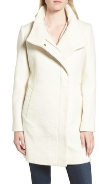 Cole Haan Women's Double Breasted Funnel Neck Coat