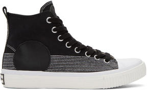 McQ Black Swallow Plimsoll High-Top Sneakers