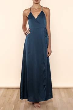 Cotton Candy Goddess Wrap Dress
