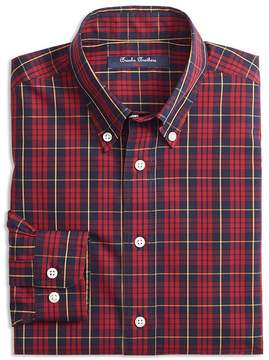 Brooks Brothers Boys' Holiday Plaid Sport Shirt - Big Kid