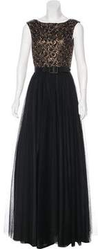 Aidan Mattox Sleeveless Tulle Gown