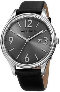 Akribos XXIV Mens Black Strap Watch-A-869ss