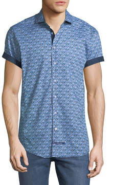English Laundry Classic-Fit Floral Short-Sleeve Sport Shirt