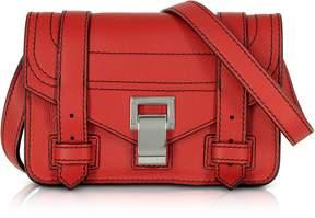 Proenza Schouler PS1+ Cardinal Grainy Leather Mini Crossbody Bag