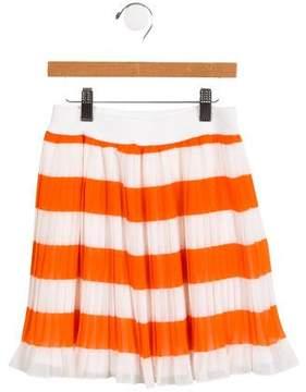 MonnaLisa Girls' Striped Pleated Skirt