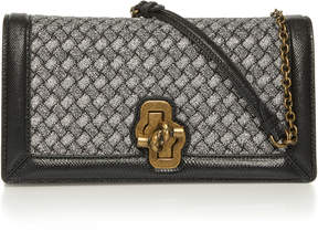 Bottega Veneta Knitted Knot Leather Clutch