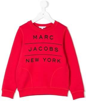 Little Marc Jacobs logo print sweatshirt