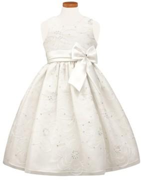 Sorbet Girl's Floral Satin Fit & Flare Dress