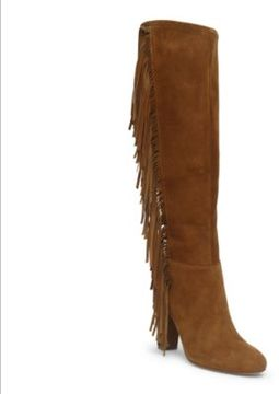 Ralph Lauren Vanida Suede Knee-High Boot New Snuff 7.5