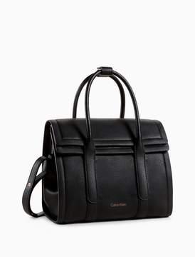 Calvin Klein pebble foldover city satchel