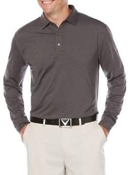 Callaway Opti-Dri French Terry Long Sleeve Polo Golf Shirt