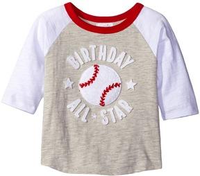 Mud Pie 2nd Birthday All-Star Raglan T-Shirt Boy's T Shirt