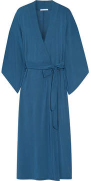 Eberjey Collette Stretch-modal Jersey Robe - Storm blue