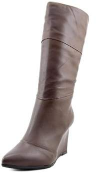 Nicole Miller Katie 2 Women Pointed Toe Leather Mid Calf Boot.