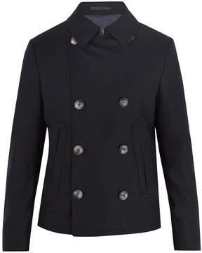Giorgio Armani Double-breasted stretch-cashmere jacket