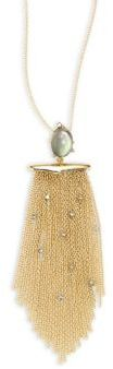 Alexis Bittar Elements Crystal-Studded Tassel Pendant Necklace