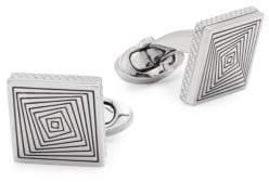 Tateossian Titanium Square Graphic Cufflinks