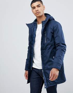 Pull&Bear Short Quilted Jacket In Navy