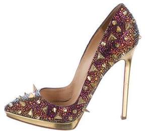 Christian Louboutin Pigalili Pot Purri Strass Pumps