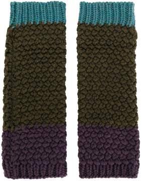 Etro fingerless knitted gloves