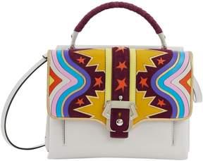 Smythson Grey Leather Handbag