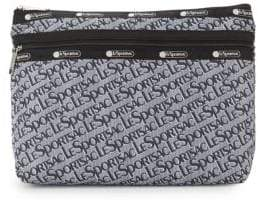 Le Sport Sac Large Taylor Logo Printed Pouch