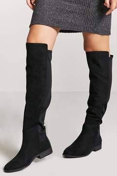 Forever 21 Faux Suede Knee-High Boots