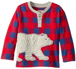 Hatley Beary-Bush Long Sleeve Mini Henley Boy's Clothing