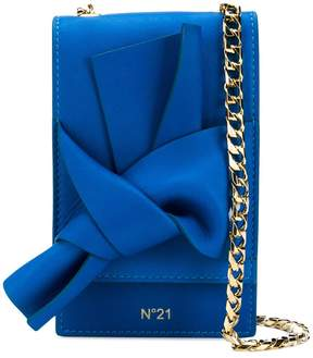 No.21 knot front cross body bag