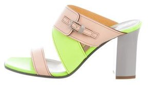 Pollini Crisscross Slide Sandals
