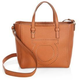 Salvatore Ferragamo Gancio Mood Small Marta Leather Tote
