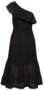 Banana Republic Lace One-Shoulder Midi Dress