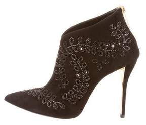 Oscar de la Renta Elkin Embellished Booties
