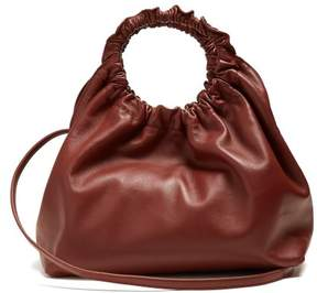 The Row Double Circle Small Leather Bag - Womens - Burgundy