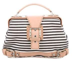 Giuseppe Zanotti Striped Canvas Handle Bag